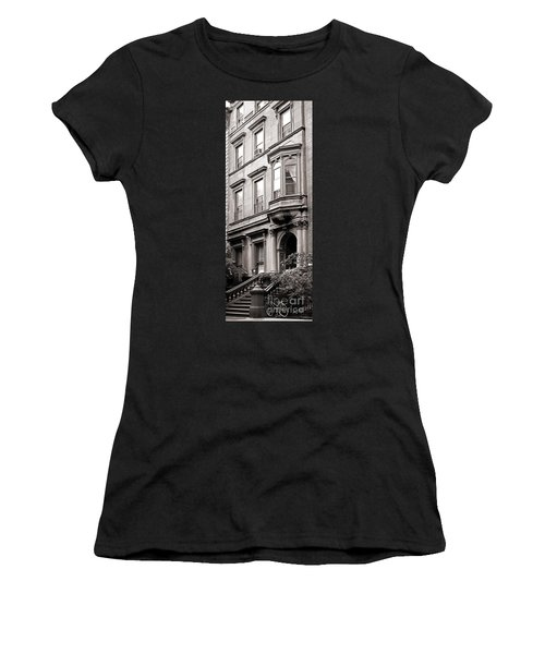 Brooklyn Heights -  N Y C - Classic Building And Bike Women's T-Shirt (Athletic Fit)