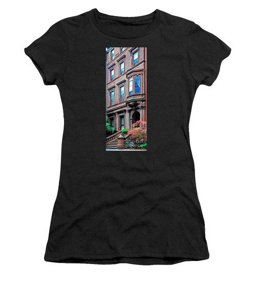 Brooklyn Heights - Nyc - Classic Building And Bike Women's T-Shirt