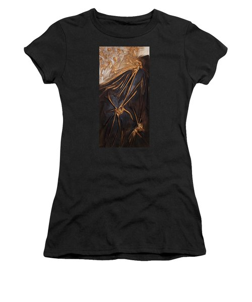 Brown And Gold Women's T-Shirt (Athletic Fit)