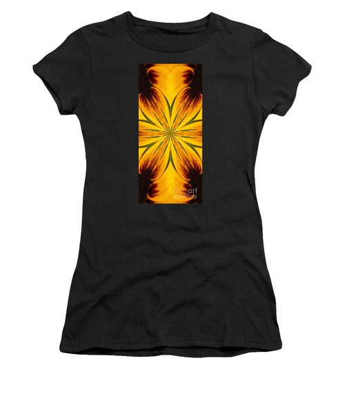 Brown And Yellow Abstract Shapes Women's T-Shirt