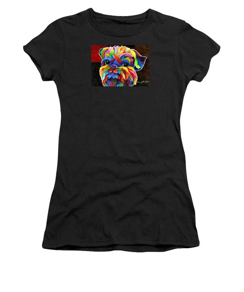 Brussels Griffon Women's T-Shirt (Junior Cut) by Sherry Shipley