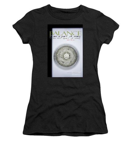 Bubbles Balance Bubbles Women's T-Shirt (Athletic Fit)