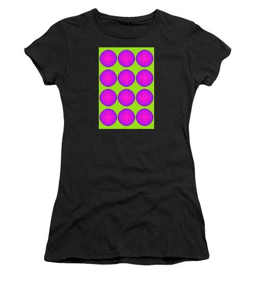 Bubbles Lime Purple Poster Women's T-Shirt
