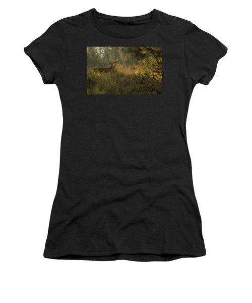 Bucks In Velvet Women's T-Shirt (Athletic Fit)