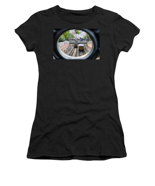 Budapest Castle Hill Funicular Women's T-Shirt (Athletic Fit)