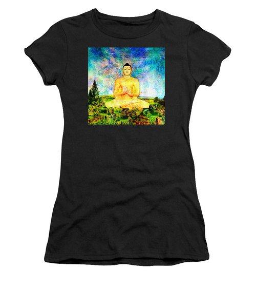 Buddha Women's T-Shirt (Junior Cut) by Ally  White
