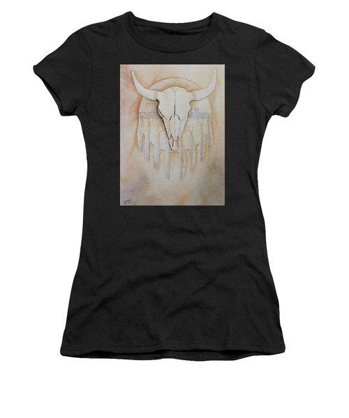 Buffalo Shield Women's T-Shirt (Athletic Fit)