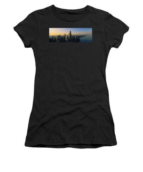 Buildings At The Waterfront, Chicago Women's T-Shirt (Junior Cut) by Panoramic Images