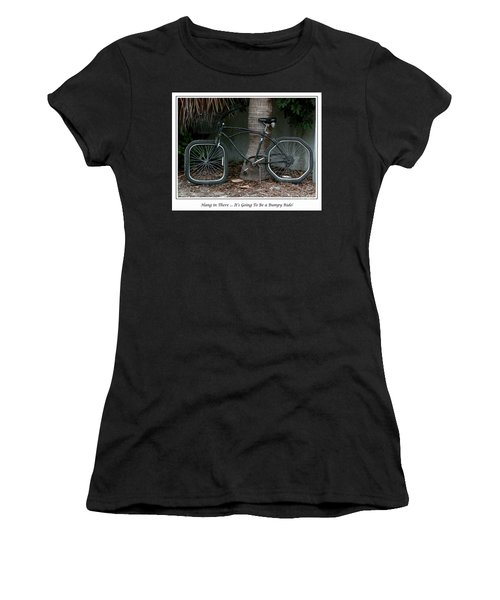 Women's T-Shirt (Junior Cut) featuring the photograph Bumpy Ride by Mariarosa Rockefeller