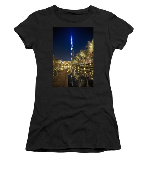 Burj Khalifa Swoard Women's T-Shirt (Junior Cut) by John Swartz
