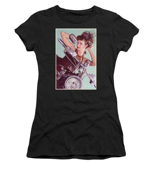 Burlesque Biker -portrait Women's T-Shirt (Athletic Fit)