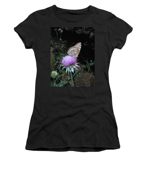 Butterfly At Peace Women's T-Shirt (Athletic Fit)