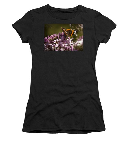 Women's T-Shirt featuring the photograph Butterfly Close Up by Stwayne Keubrick