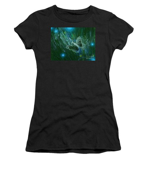 Butterfly Magic By Jrr Women's T-Shirt (Athletic Fit)