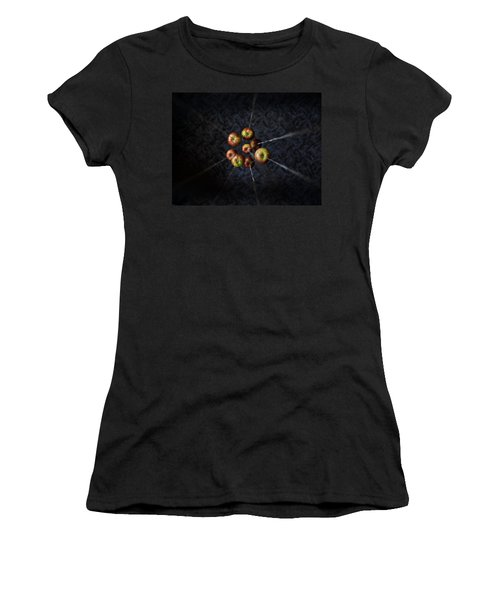 Women's T-Shirt (Junior Cut) featuring the photograph By A Thread by Aaron Aldrich