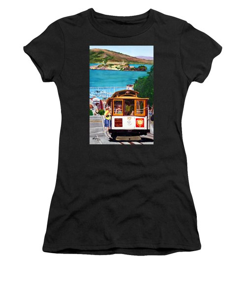 Cable Car No. 17 Women's T-Shirt (Junior Cut) by Mike Robles