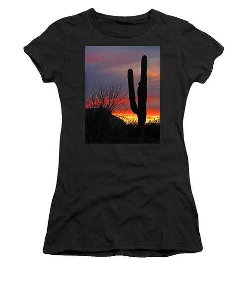 Cactus At Sunset Women's T-Shirt (Athletic Fit)