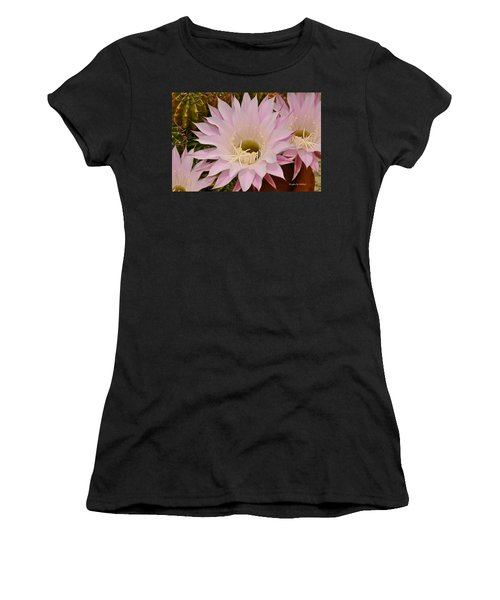 Cactus In The Backyard Women's T-Shirt (Athletic Fit)