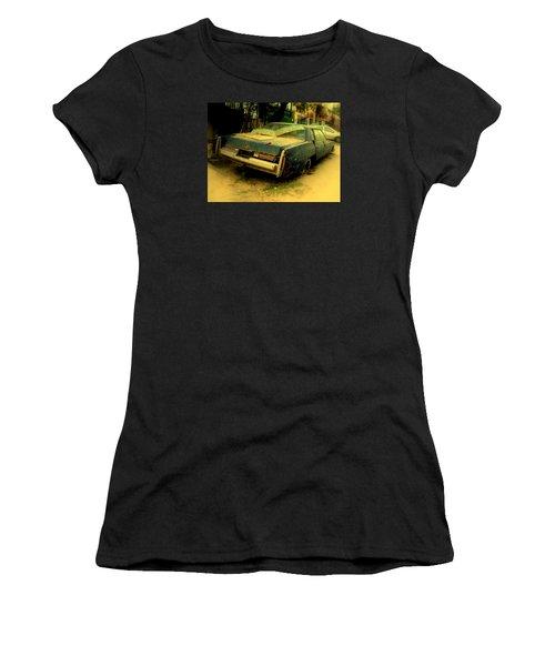 Women's T-Shirt (Junior Cut) featuring the photograph Cadillac Wreck by Salman Ravish