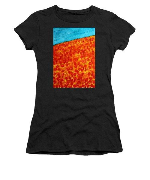 California Poppies Original Painting Women's T-Shirt