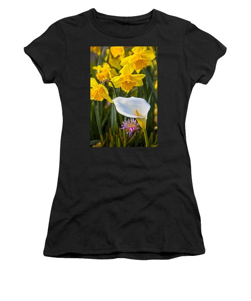 Calla Lily And Doffodils Women's T-Shirt