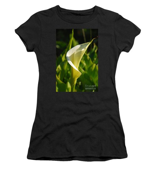 Women's T-Shirt (Junior Cut) featuring the photograph Calla Lily by Mary Carol Story