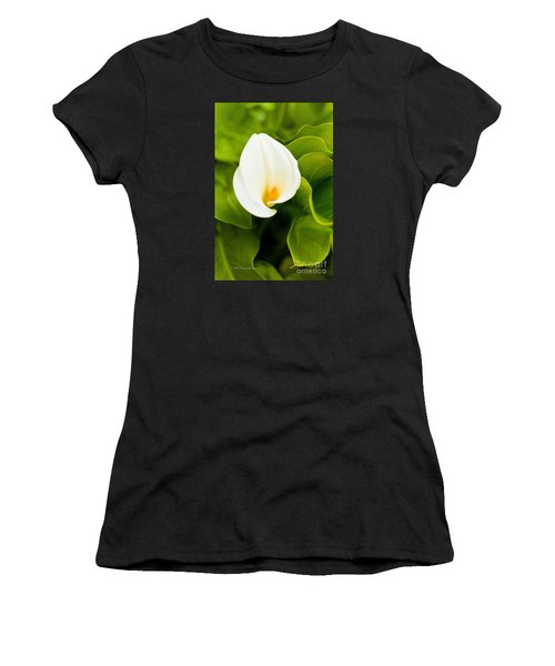 Calla Lily Plant Women's T-Shirt (Athletic Fit)