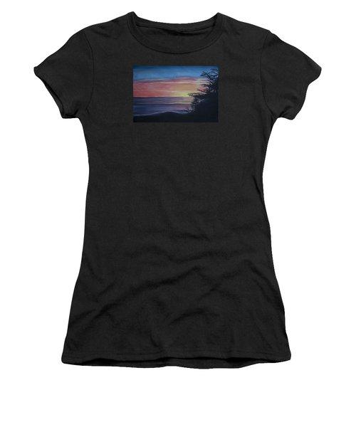 Cambria Setting Sun Women's T-Shirt (Junior Cut) by Ian Donley