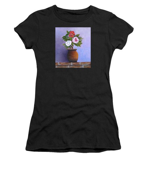 Camellia Bouquet Women's T-Shirt (Athletic Fit)