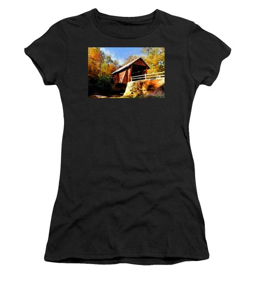 Campbell's Covered Bridge Women's T-Shirt (Athletic Fit)