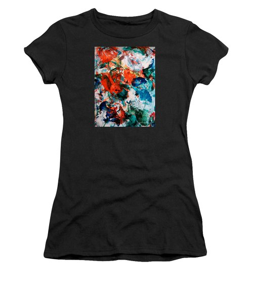 Women's T-Shirt (Junior Cut) featuring the painting Can I Have This Dance by Lori  Lovetere