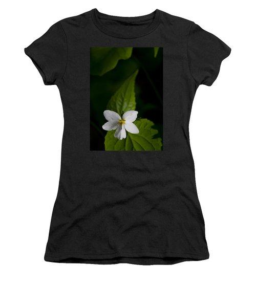 Canada Violet Women's T-Shirt (Junior Cut) by Melinda Fawver