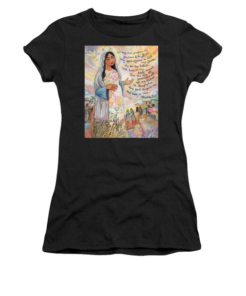 Canticle Of Mary Women's T-Shirt (Athletic Fit)
