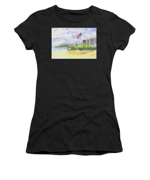 Massachusetts -cape Cod Cottages Women's T-Shirt (Athletic Fit)