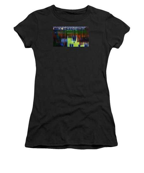 New England Landscape Illusion Women's T-Shirt (Athletic Fit)