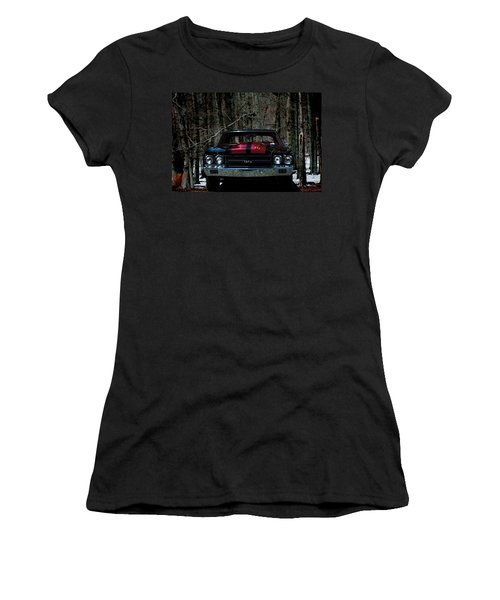 Car Art Chevy Chevelle Ss Hdr Women's T-Shirt (Athletic Fit)