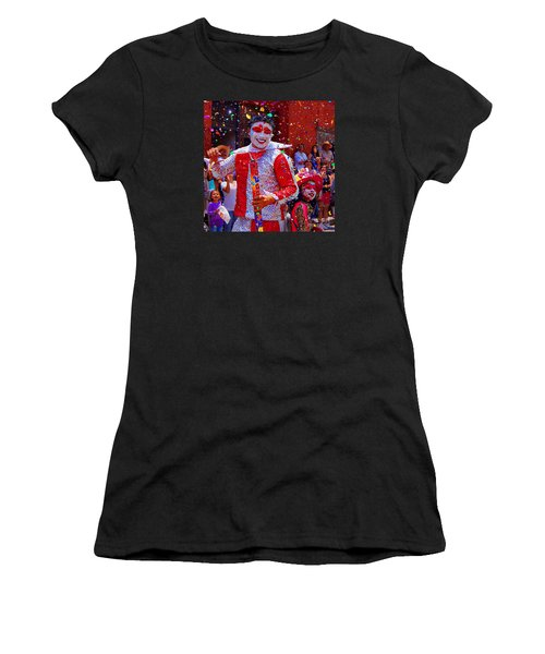 Carnival Man At The Day Of The Crazies Parade Women's T-Shirt