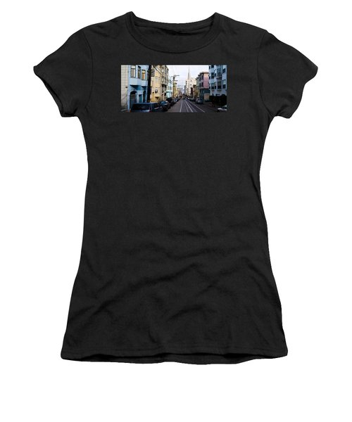 Cars Parked On The Street, Transamerica Women's T-Shirt