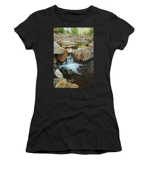 Cascading Downward Women's T-Shirt (Athletic Fit)