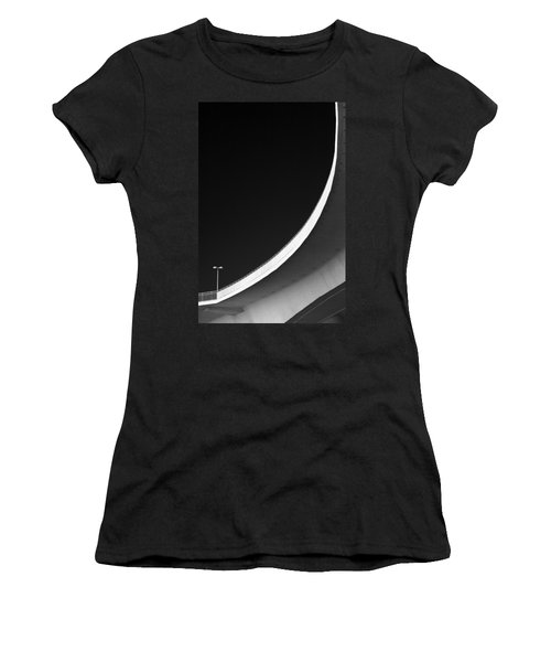 Causeway Arc Clearwater Florida Black And White Women's T-Shirt (Junior Cut)