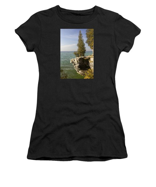 Cave Point - Signed Women's T-Shirt