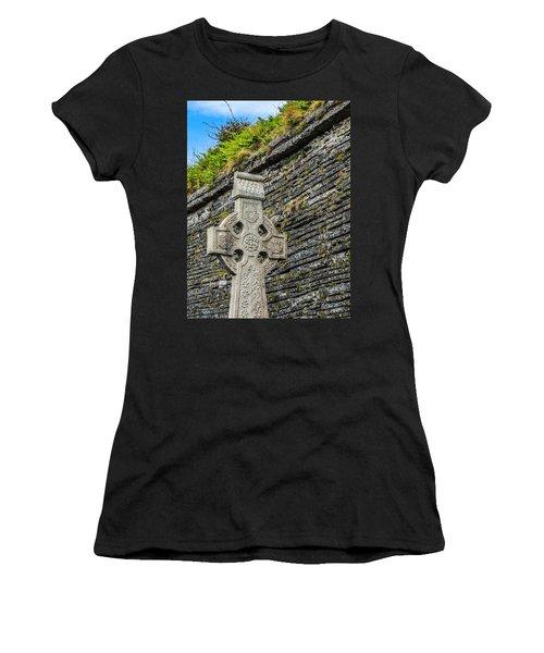 Celtic Cross At Kilmurry-ibrickan Church Women's T-Shirt