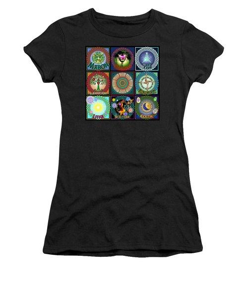 Celtic Festivals Calendar Women's T-Shirt (Athletic Fit)