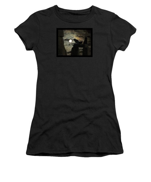 Women's T-Shirt (Junior Cut) featuring the photograph Celtic Nights by I'ina Van Lawick