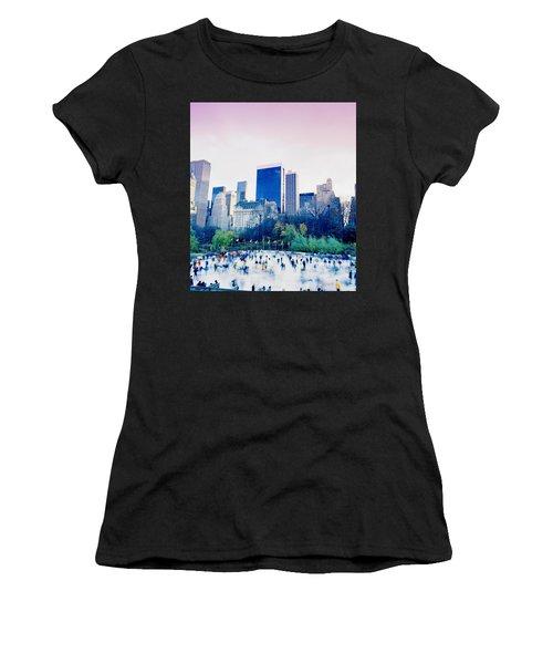 New York In Motion Women's T-Shirt (Junior Cut) by Shaun Higson