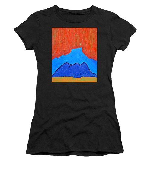 Cerro Pedernal Original Painting Sold Women's T-Shirt (Athletic Fit)
