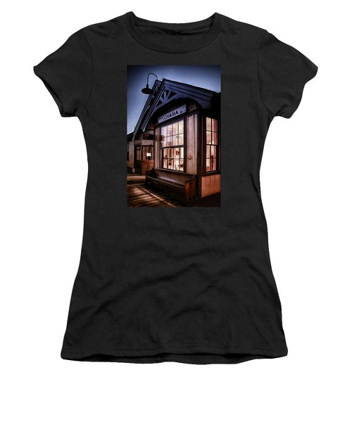 Women's T-Shirt (Junior Cut) featuring the photograph Chama Train Station by Priscilla Burgers