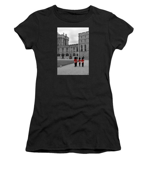 Changing Of The Guard At Windsor Castle Women's T-Shirt (Athletic Fit)