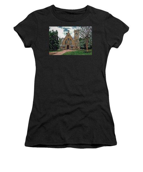 Chapel At University Of Virginia Women's T-Shirt (Junior Cut) by Jerry Gammon
