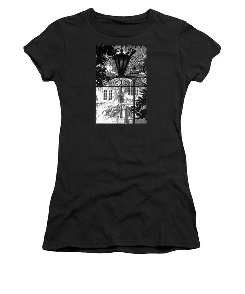 Charleston Gateway II In Black And White Women's T-Shirt (Athletic Fit)